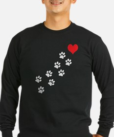 Paw Prints To My Heart T