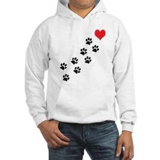 Paw Prints To My Heart Hoodie