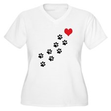 Paw Prints To My T-Shirt