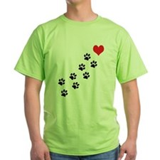 Paw Prints To My Heart T-Shirt