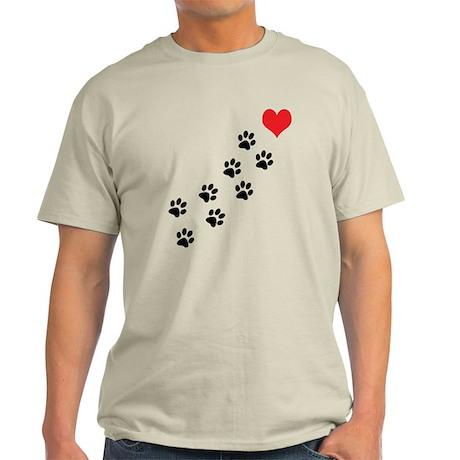 Paw Prints To My Heart Light T-Shirt