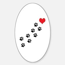 Paw Prints To My Heart Decal