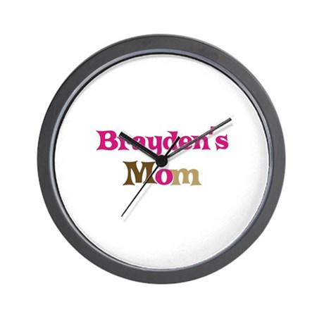 Brayden's Mom Wall Clock