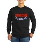 Retired Grocer Long Sleeve Dark T-Shirt