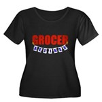 Retired Grocer Women's Plus Size Scoop Neck Dark T