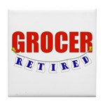Retired Grocer Tile Coaster