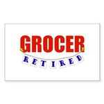 Retired Grocer Rectangle Sticker