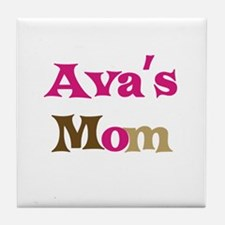Ava's Mom Tile Coaster