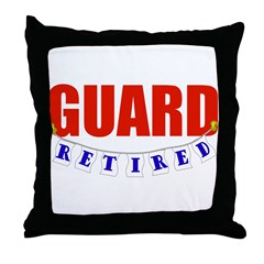 Retired Guard Throw Pillow