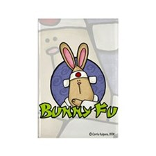 Bunny Fu Rectangle Magnet (10 pack)