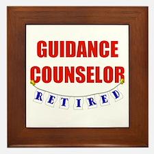Retired Guidance Counselor Framed Tile