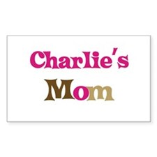 Charlie's Mom Rectangle Decal