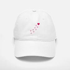 Pink Paw Prints To My Heart Baseball Baseball Cap