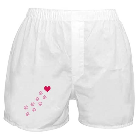 Pink Paw Prints To My Heart Boxer Shorts