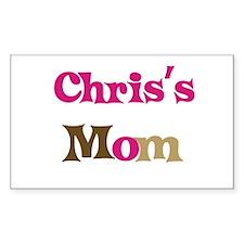 Chris's Mom Rectangle Decal