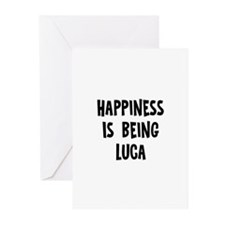 Happiness is being Luca Greeting Cards (Pk of 10)