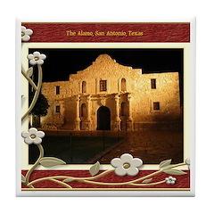 The Alamo #3 Tile Coaster