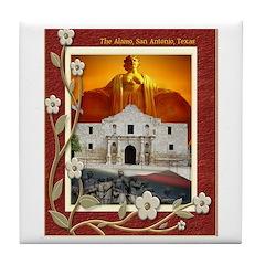 The Alamo #5 Tile Coaster