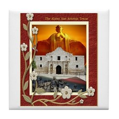 The Alamo #5 Tile Coaster