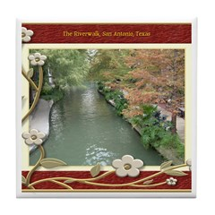 The Riverwalk #2 Tile Coaster
