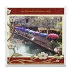 The Riverwalk #3 Tile Coaster