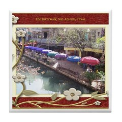 The Riverwalk #3 Tile Coaster