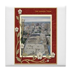 San Antonio Skyline #1 Tile Coaster