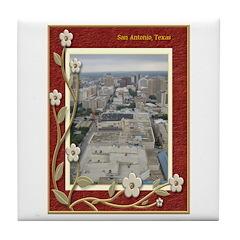 San Antonio Skyline #1 Tile Coaster