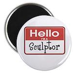 Sculptor Nametag Magnet
