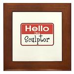 Sculptor Nametag Framed Tile