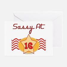 Sassy At 16 Greeting Cards (Pk of 20)