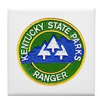 Kentucky Park Ranger Tile Coaster