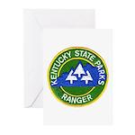 Kentucky Park Ranger Greeting Cards (Pk of 10)