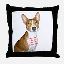 I am Basenji Throw Pillow