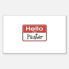 Painter Nametag Rectangle Decal