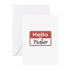 Painter Nametag Greeting Cards (Pk of 20)