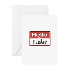 Painter Nametag Greeting Card