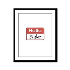 Painter Nametag Framed Panel Print