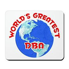 World's Greatest DBA (F) Mousepad