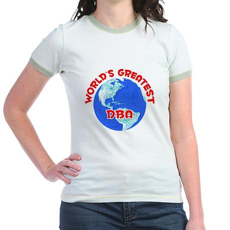 World's Greatest DBA (F) Jr. Ringer T-Shirt