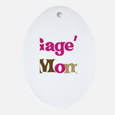 Gage's Mom  Oval Ornament