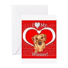 Love My Wiener Greeting Card