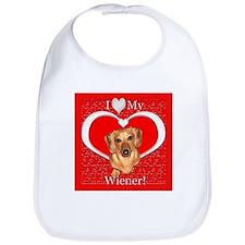 Love My Wiener Bib
