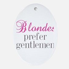 Blondes Oval Ornament