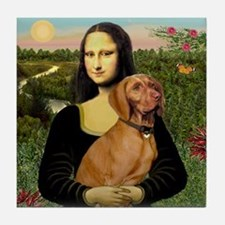 Mona Lisa (new) & Vizsla Tile Coaster