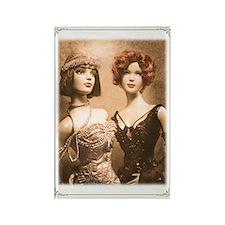 1920s Flapper Dolls ~ Rectangle Magnet