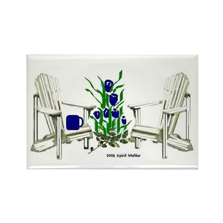Lawn Chairs Pop Art Rectangle Magnet