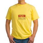 Fabric Lover Nametag Yellow T-Shirt