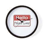Fabric Lover Nametag Wall Clock