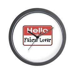 Fabric Lover Nametag Wall Clock